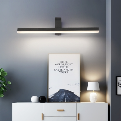Metal Rectangle Wall Light Fixture Modern Led Vanity Light with Frosted Diffuser