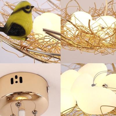 Metallic Nest Chandelier Lighting 4/6 Lights 16