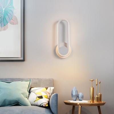 Metal Oblong Wall Lighting Angle Adjustable Modern Integrated Led Wall Mount Light