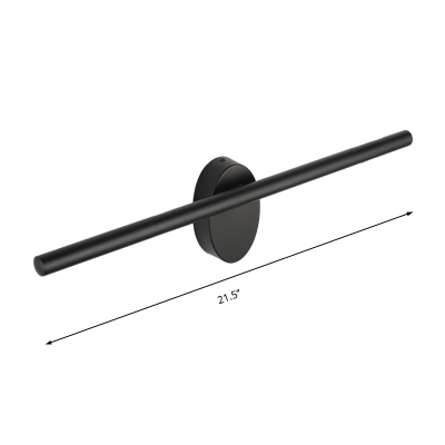 Black Tube Wall Lamp Minimalist Metal Led Indoor Wall Mount Light for Bedroom