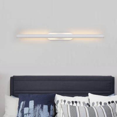 Slim Tube Wall Mounted Lamp Simple Modern Metal Led Vanity Lighting for Bathroom