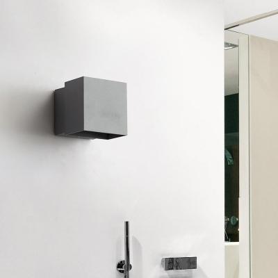 Angle Adjustable Cube Wall Mounted Lighting Simple Metal Waterproof Led Outdoor Lighting in Black/Grey/White
