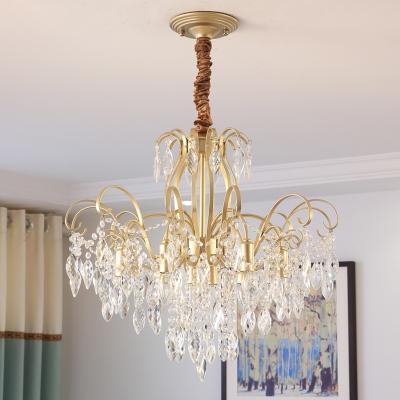 Clear Crystal Chandelier Lighting Vintage Luxury 7/8 Lights 19.5