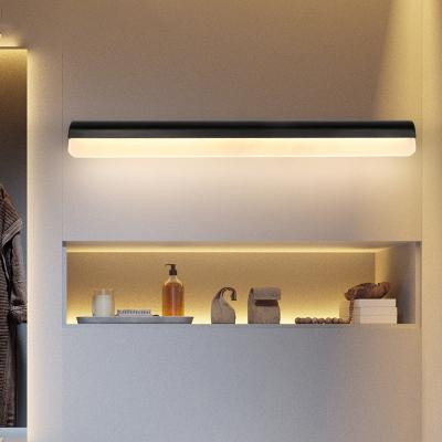 Metal Linear Wall Mount Light Minimalist 1 Light Bathroom Vanity Light with Acrylic Diffuser
