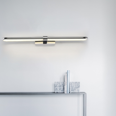 Linear Wall Mount Light Waterproof Modern Stainless Steel Led Vanity Lighting in Polished Chrome