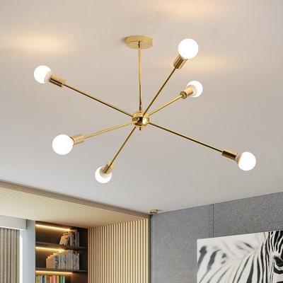 Metal Starburst Hanging Ceiling Light 6/10/12 Lights 26