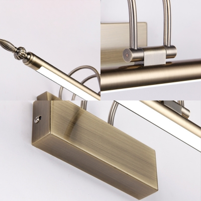 Mid Century Modern Tube Wall Light with Swing Arm Metal Led Vanity Lighting for Mirror