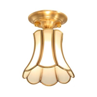 Vintage Bell/Gourd Flush Ceiling Light 6
