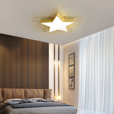 Nordic Star Flush Mount Ceiling Light with Metal Wire 1 Light 24.5