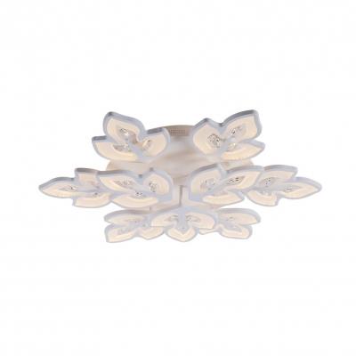 Office Restaurant Ceiling Lamp Acrylic Modern Stylish Warm/White Lighting LED Flush Mount Light in White