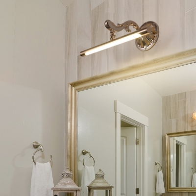 Polished Gold Tube Wall Light with Acrylic Diffuser Adjustable Led Modern Metal Bath Bar in Neutral Light, 16