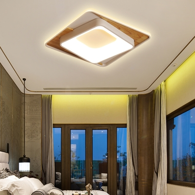 Modern Slim Rectangle Ceiling Lamp Acrylic LED Flush Mount Light in White for Bedroom Foyer