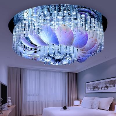 Clear Crystal Flush Mount Ceiling Light Modern 19.5