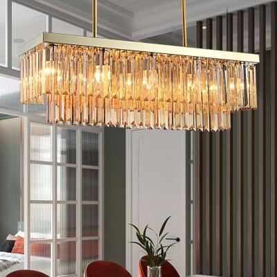Linear Chandelier Light Amber Clear