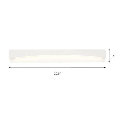 Matte White Rectangle Wall Mounted Light Minimalist Metal Led Bathroom Lighting