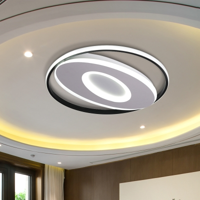 Oval Flush Mount Lights Modern Acrylic