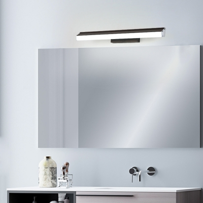 Simple Linear Bathroom Vanity Light 1 Light 16/22.5 Inch Wide Acrylic Shade Led Wall Sconce Light in Brown, Warm/White Light
