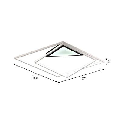 Squared Lighting Fixture Contemporary Acrylic 21