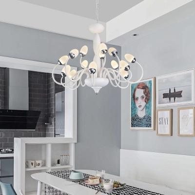 15 22 Lights Contemporary Chandelier Lighting Metal Led Living Room