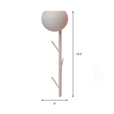 Metallic Bowl Wall Sconce Light 1 Light Modern Black/White Wall Mount Light with Hat Rack