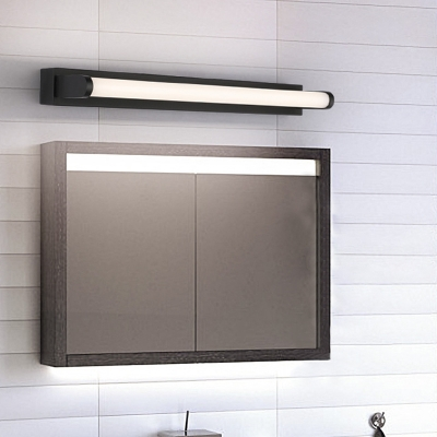 Tubular Vanity Mirror Light Minimalist Metal and Acrylic LED Wall Lighting for Bathroom