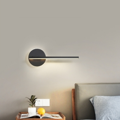 Minimalist Slim Wall Lamp Metal Integrated Led Bedroom Wall Mount Light with Diffuser