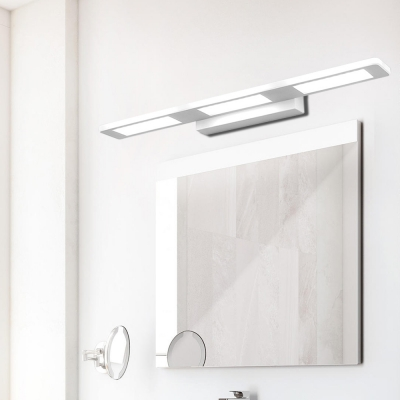 Modernism Rectangle Wall Lighting Led Metal Indoor Vanity Mirror Light in White