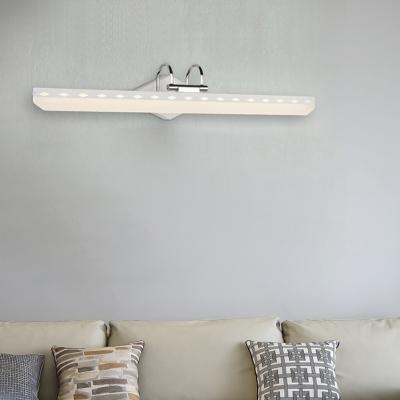 Swing Arm Bath Light Modern Waterproof Led Vanity Lighting with Acrylic Shade
