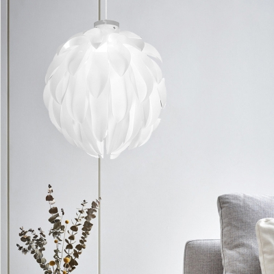 Feather-Like Pendant Lamp with Acrylic Shade Nordic Style 16
