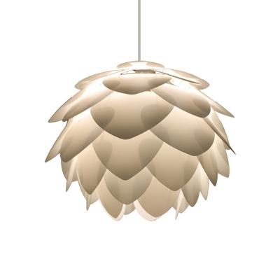 Plastic Pinecone Hanging Ceiling Light Nordic 1 Light White Pendant Lamp for Bedroom