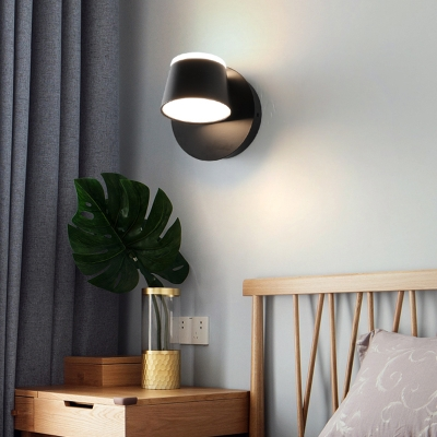 Rotatable Cone Wall Sconce Light Modern Metal Indoor Wall Lighting For Bedroom With White Lighting - Beautifulhalo.com