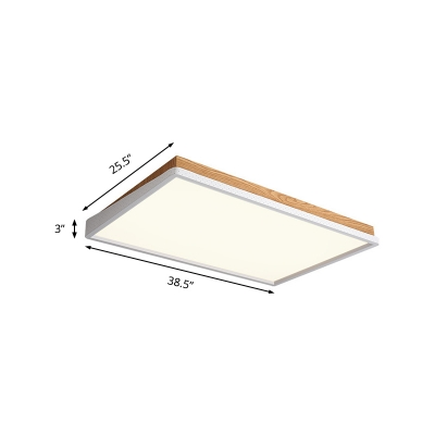 White Round/Square/Rectangle Ceiling Light Acrylic Contemporary LED Flush Light Fixture in Warm/White/Natural
