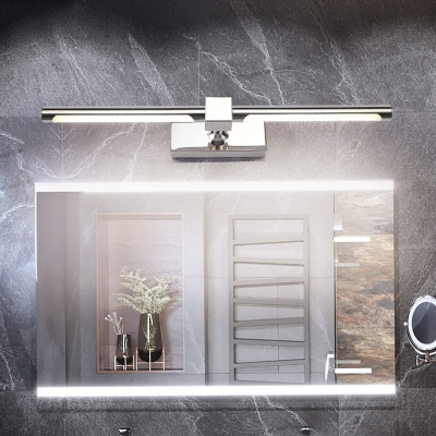 Waterproof Tube Vanity Mirror Light Contemporary Stainless Steel Led Wall Mount Light