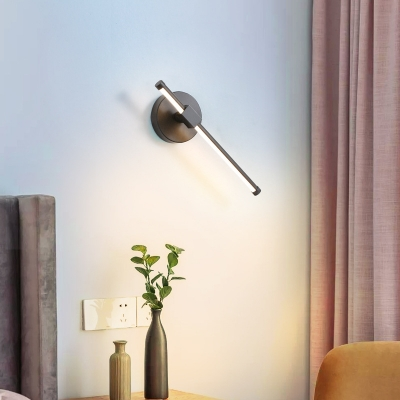 Tube Wall Light Fixture Contemporary Metal Led Wall Mounted Lighting for Bedside