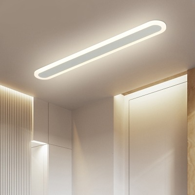 Linear Flushmount Lighting Minimalism Acrylic Led Flush Ceiling Light with White Lighting