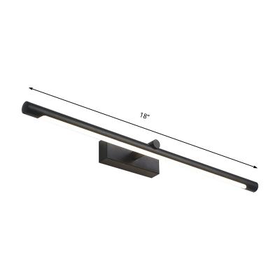 Minimalist Tubular Bath Bar Integrated Led Metallic Indoor Vanity Lamp for Bathroom