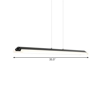 Acrylic Linear Led Pendant Lamp Modern Indoor Drop Ceiling Light for Dining Room