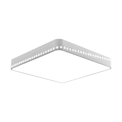 Black/Gold/White Squared Flush Mount Light Contemporary Metal Led Close to Ceiling Light in Warm/White