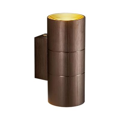 Cylinder Wall Sconce Light Modern Industrial 2 Lights Black/Coffee/Gold/Grey Indoor Lighting for Bedroom