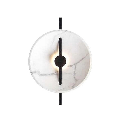 Marble Saucer Wall Sconce Lighting Contemporary 14