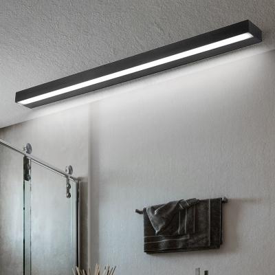 Minimalist Rectangle Wall Mount Light Waterproof Metal Led Bathroom Lighting