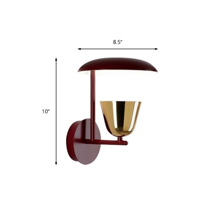 Creative Dome Wall Lamp with Gold Bell Shade Single Light Art Deco Metal Wall Sconce