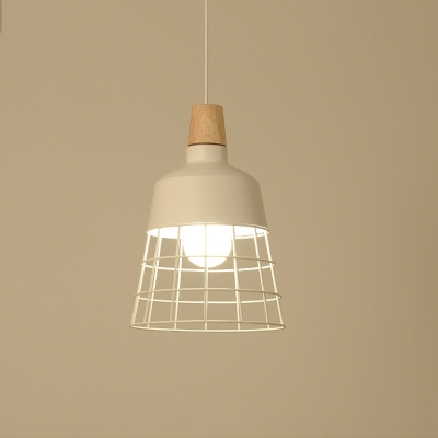Black/White Bowl/Cylinder Shade Hanging Light Lamp Loft Metal 1 Head Pendant Lamp for Dining Table
