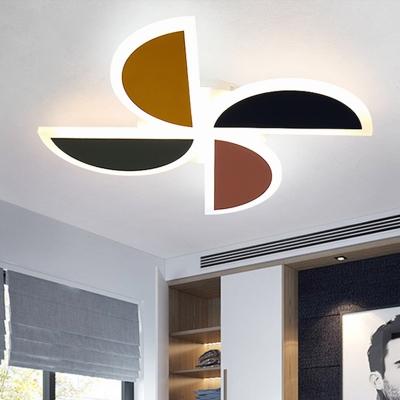 Acrylic Windmill Flush Light Modern Style 19.5