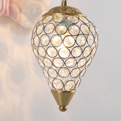 Crystal Ice Cream Wall Lamp Traditional 1 Light Wall Sconce Light with Pink/Blue Unicorn Decoration