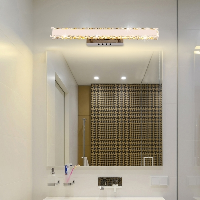 White Rectangular Vanity Light Fixture Modern 11.5