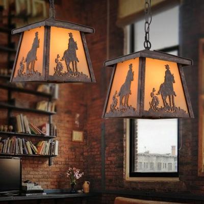 Industrial Tapered Suspension Light Height Adjustable Metal 1 Light Pendant Lighting with 31.5