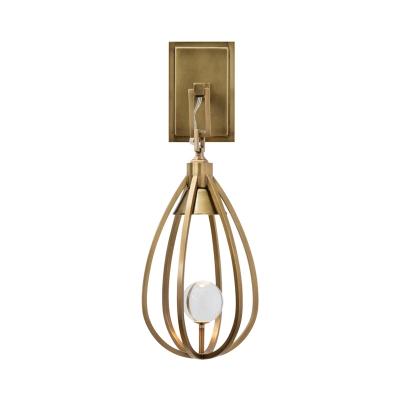 Gold Finish Teardrop Surface Wall Sconce Modern Metallic Wire 1 Head Wall Mount Light