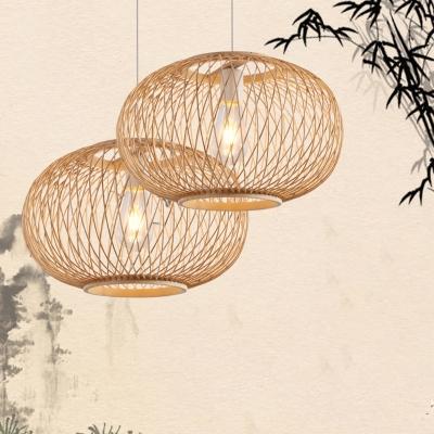 Bamboo Globe Pendant Lighting Asian Style 16