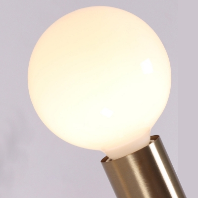3 Tiers Linear Chandelier Light Mid Century Modern Metal Hanging Pendant Light in Brushed Brass